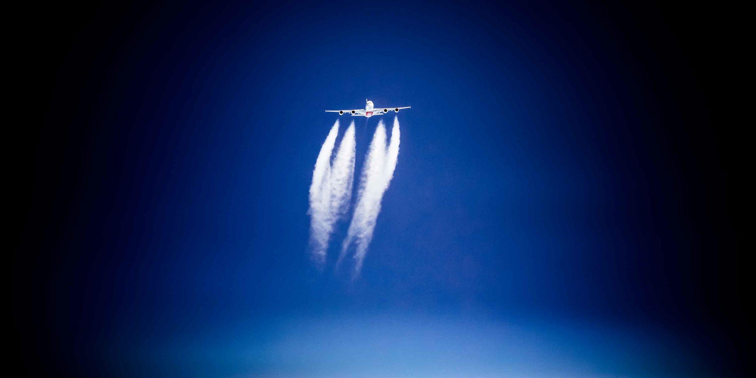 Emirates Airbus 380 Air to Air