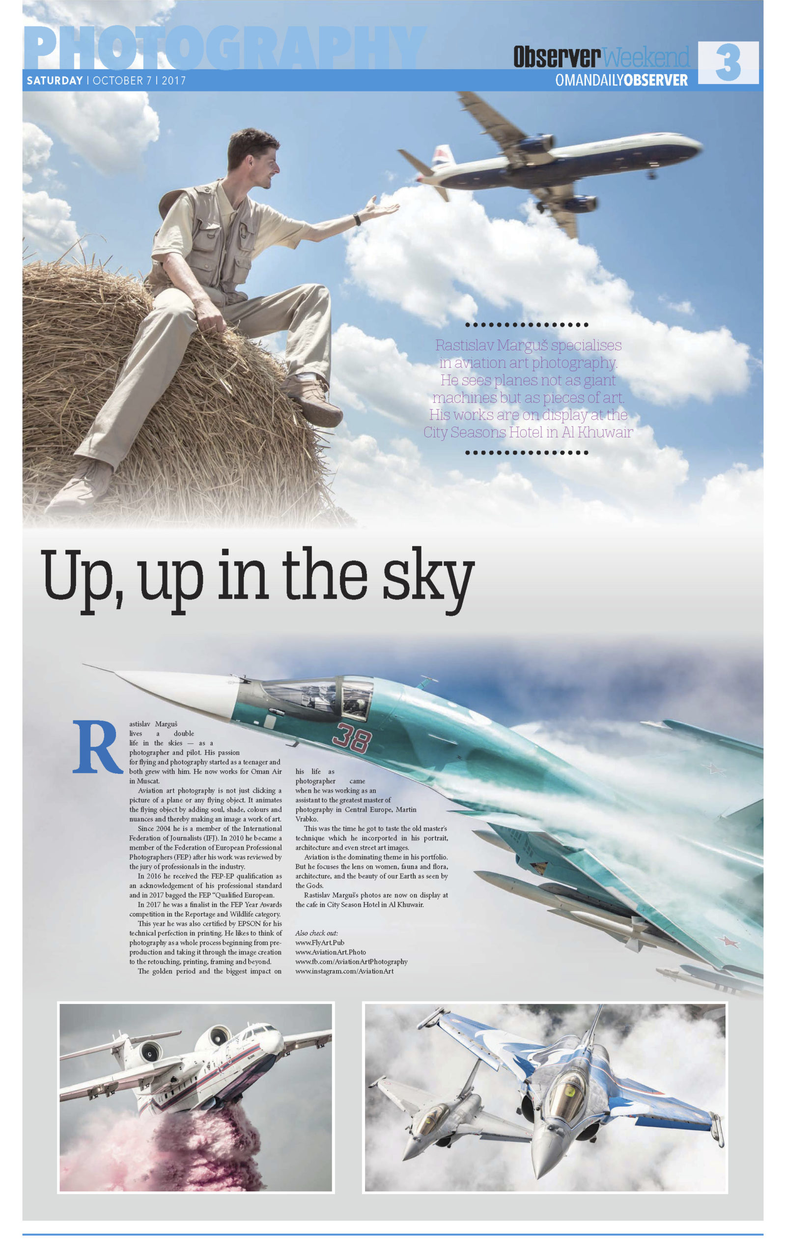 Oman Daily Observer, Aviation Art Photography Exhibition 2017