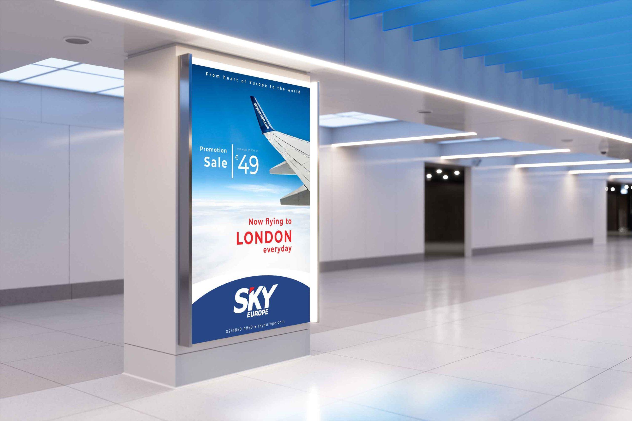 Sky Europe Advertisement