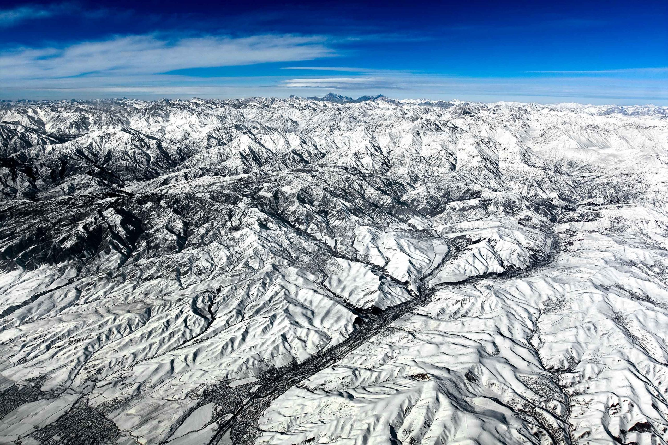 Tajikistan Aerial Pamir Mountain